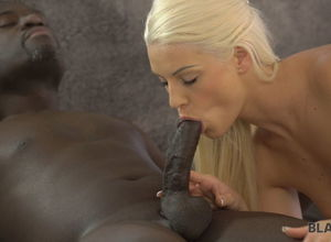VIP4K. Uncut dick of ebony paramour..