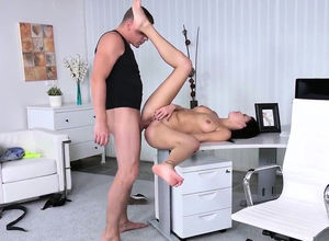 Adorable nymphomaniac gives oral job..