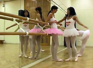 Girl-on-girl peeing - 6 Torrid ballet..