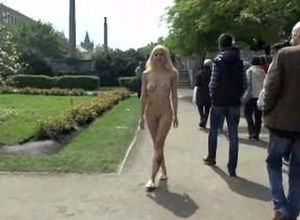 Light-haired vanessa nude on public..