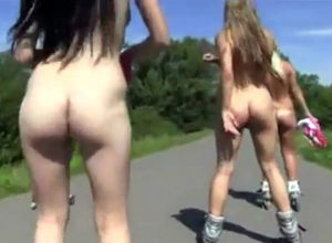Stellar teeny rollers public naked..
