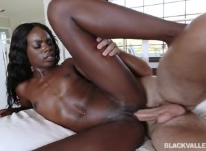 African girl Ana Foxxx Ebony and milky..