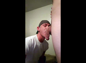 dude throating ample friend's man rod