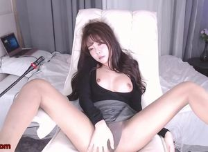 Japanese hot camgirl jacks in pantyhose
