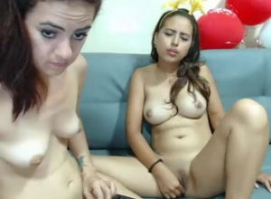 Marvelous youthfull damsels on web cam..
